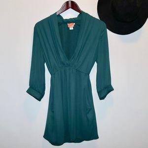 Bar lll | Green Tie Tunic Blouse